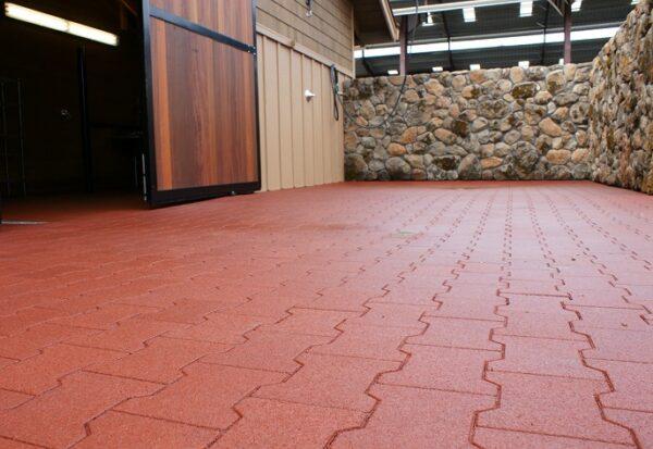 Courtyard rubber tiles