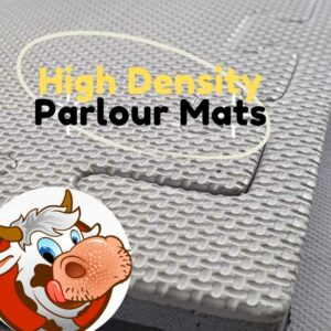 Parlour Pit Mats 20mm Grey Black Reversible